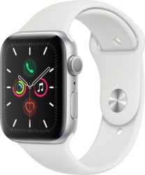 Apple Watch Series 5 44mm Silver Alu White CZ
